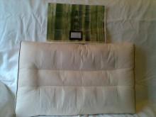 Bamboo Charcoal pillow(竹炭枕) Size(cm): 35 x 56 x 8(H) Wt: 850gm Colour: Beige